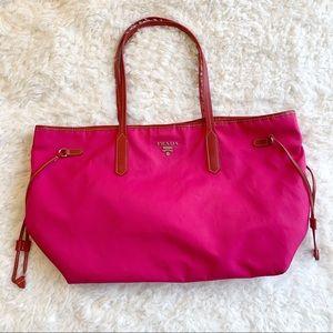 PRADA Saffiano Nylon Tote Bag